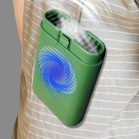 Ventilateurs électriques portables suspendus au cou de col de cols USB 3 vitesses ajustables air refroidisseur de poche de refroidissement personnel pour le bureau de sports de voyage