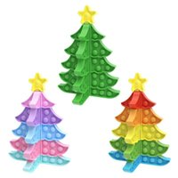 Decompression Toys Fidget Christmas Tree Snowflake Push DIY Puzzle Fingertip Toy New Year Valentine's Day Decoration 2021 Free DHL