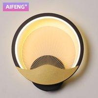 AIFENG LED настенный светильник спальня прикроватная лампа Nordic современный минималистский творческий лестничный проход гостиной круглый акриловая стена