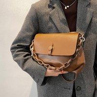 Bolsa de Luxo da Corrente Moda Moda Crossbody Bag 2021 New Lady Simple Ombro Bag Total