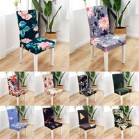 New Flower Printing Removable Chair Cover Big Elastic Slipco...