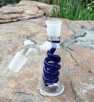 """4.5 """"لولبي الرماد الصيادين 14 ملليمتر 18 ملليمتر سميكة بيركس زجاج الفوار الزجاج بونغ الرماد الماسك 45 درجة الزجاج أنابيب المياه"""