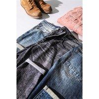 Simwood новые джинсы мужчины классические джинсовые высококачественные прямые ноги мужские повседневные брюки плюс размер хлопчатобумажные джинсовые брюки 180348 lj201023