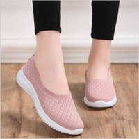 Dress Shoes Women's smooth knitted shoes, breathable casual shoes for women, model, summer and autumn 44MI