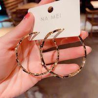 Hoop & Huggie 925 Silver Needle Big Ear Ring Golden Earrings For Women Gold Plated Jewelry Stylish Gif