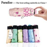 Chinois Best Marque Petite Mode Pliant Parapluie Pluie Femmes Mini Poche Parasol Filles Anti-UV Voyage portable étanche
