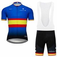 2021 الرجال الدراجات جيرسي دراجة مريلة السراويل قميص هدفين مبطن السراويل مجموعة أطقم ارتداء