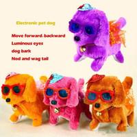 Brinquedos de pelúcia eletrônica cão animais de estimação venda quente nova moda passeio brinquedo brinquedo de alta qualidade engraçado elétrico elétrico curta cão floss cachorro