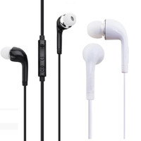 J5 S4 이어폰 이어폰 3.5mm 이어 버드가있는 마이크 원격 볼륨 제어 헤드셋 헤드셋 헤드폰 헤드폰 헤드폰 S3 S4 S5 참고 2 4 MP3
