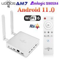 UGOOS AM7 TV Box Android 11 Amlogic S905X4 DDR4 4GB RAM دعم ROM AV1 CEC HDR WiFi6 1000M BT5.0 OTT 4K TVBox