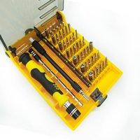 Conjuntos de ferramentas de mão profissional 45 em 1 chave de fenda ajustar ferramentas de driver de parafuso de precisão magnética com pinça