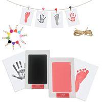 NEWNON-TOXICO Impronte per il bambino Handprint Articoli artigianali No Touch Skin Inkless Ink Pads Kit per 0-6 mesi Pet Dog Paw Stampe Souvenir EWB8071