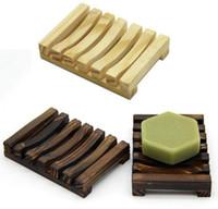 Caixa de sabão de sabão de madeira Caixa de sabão de sabonete de madeira sabonetes de madeira titular bandeja de banheiro casa de banho suporte stand wwa196
