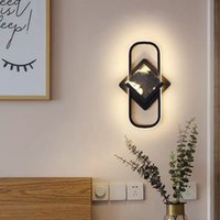 Modern Bedroom Bedside Wall Lamps Simple Decorations Living Room TV Background Wall Lights Nordic Aisle Study led Light Fixtures Creative Hotel Indoor Home Sconce