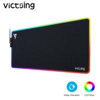 Valtsing PC313 RGB الألعاب الوسادة ماوس الألعاب الكبيرة LED MousePad 13 إضاءة 6 مستويات سطوع ماتس الماوس المطاط غير الانزلاق