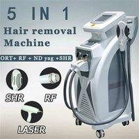 المهنية 2 في 1 nd yag الليزر إزالة الوشم الأجهزة ipl الليزر الاحتيال SHR سريعة إزالة الشعر معدات التجميل صالون استخدام المنزل