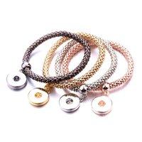 Bracelet Snaps Snaps à Ginger Réglable Snap Snap Bracelets pour Femmes Filles Choisissez votre propre bouton Bijoux de mode