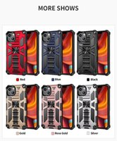 Cell Phone Cases For iPhone 13 Pro Max Hybrid Armor Invisible Kickstand Magnetic Shockproof Back Cover D1