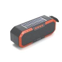 Güneş Şarj Kablosuz Hoparlör TWS Açık Bluetooth Hoparlörler Ture Stereo Hoparlör Müzik Kutusu Bas Soundbox