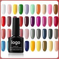 10ml OEM Facotor UV Gel Nail Glitter Fashion Salon Kit Matte Casaco Base Gel Destrado Selo Top Top Nails Art Tools Set
