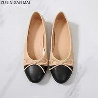 Ballet Bow Chaussures Femme Pompes Basic Fashion Deux Couleur Épissement Ballet Ballet Chaussures Chaussures Classiques Tweed Tissu Femme Chaussures Pompe 210310