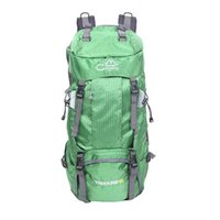 Grande capacidade 60L mochila dobrável à prova d'água com tampa de chuva verde acampamento de acampamento de acampamento mochila montanhismo dia caminhando