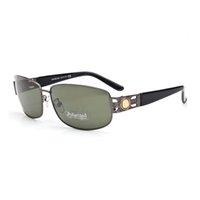 Neue Männer Polarisierte Sonnenbrillen Tag und Nacht Fahren Glases Nachtsicht Linsenschutz Eyewear Retro Metall quadratischer Rahmen mit Kasten