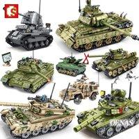 SEMBO Военные WW2 Army Action Фигуры VT4 T34 Z9 Главный боевой танк Модель автомобиля Строительные блоки Наборы Kits Kits Развивающие игрушки Подарок