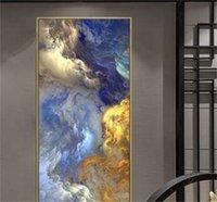 Wangart Soyut Renkler Unreal Tuval Poster Mavi Manzara Duvar Sanatı Boyama Oturma Odası Duvar Asılı Modern Sanat Baskı Boyalı 110 V2