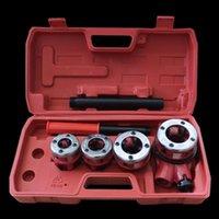 الأدوات اليدوية دليل الأنابيب الخيوط الخيوط آلة كيت مع 3 يموت الحنفية مجموعة المحمولة وموت