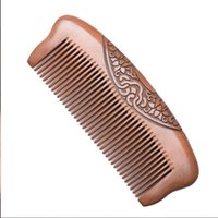 Hair Brushes Wooden Comb Peach Double Side Carving Electrostatic Anti-hair Loss Head Massage Hairdressing