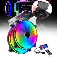 Fans & Coolings 20cm Quiet 32 LED Colorful With Remote Controller Hydraulic Bearing Large Air Volume For Computer Case 11 Blade RGB Cooling