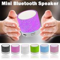 Portátil A9 Bluetooth Speakers Atacado Mini Sem Fio Loudspeaker Quebra LED USB Subwoofer Subwoofer MP3 Stereo Audio Music Player