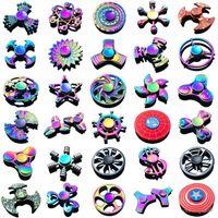 120 типов В наличии Hidget Spinner Rainbow Hand Spinners Tri-Fidget Metal Gyro Dragon Wings Hee Toys Toys Спиннинг Верхняя вершина RideSpinner Box