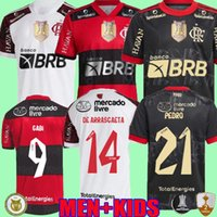 21 22 Flamengo Soccer Jersey Tercero 2021 2022 Brasil Supercopa de Arrascaeta Guerrero Diego Gabi Pedro Camisa Mengo Gabriel B Fútbol Kenedy Player Version Shirts