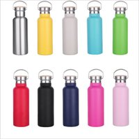 350ml 500ml Insulated Cup Sport Water Bottle Stainless Steel Tumbler Coffee Milk Mug With Bamboo Lids Xmas Gift
