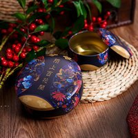 Tinplate Jar Retro Round Empty Candy Gift Box Best Wishes Small Candle Jar Tin Can Drum Shape Metal Cute Home Decor DWE10223