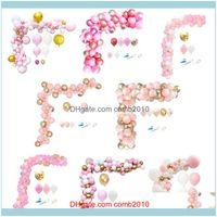 Christmas Decorations Festive Home & Garden1Set Aron Pink Theme Balloon Arch Confetti Balls Wedding Party Decor Baby Shower Gender Reveal Gi