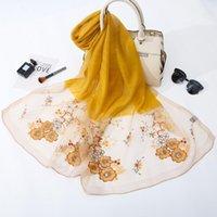 스카프 2021 실크 울 스카프 수 놓은 여성 패션 shawls 및 랩 레이디 여행 pashmina 고품질 겨울 목