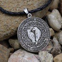 Pingente Colares Youe Shone Norse Odin Vikings Viknut Raven Rune Nó Amulet Colar Nordic Talisman