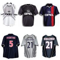 2001 2002 Paris Ronaldinho Retro Jersey 01 02 Anelka Okocha Heinze Pochettino Arteta Aloisio Camisa de Futebol Vintage Vintage