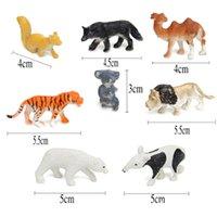 8 조각 작은 농장 동물 모델 치킨 오리 선물 키즈 인물 인형 세트 장난감 시뮬레이션 말 고양이 개 암소 돼지 양