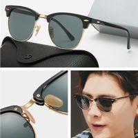2021 Nueva marca de lujo diseñador polarizado Gafas de sol Hombres Mujeres Piloto Gafas de sol UV400 Gafas Gafas Marco de metal Lente Polaroid Lens Gafas de sol
