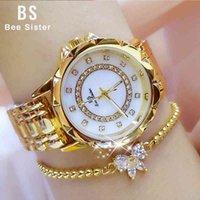 Designer luxo marca relógios strass elegante senhoras es diamante mulheres relógio de ouro para relogio feminino
