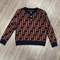 Высококачественный дизайнер FF Полная буква Логотип женские вязаные свитер Осень и зимняя жаккардовая кнопка пуловер свитера темперамент все-подходит топ