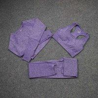 diseñador de moda mujer algodón chándals gymshark mismo estilo ropa deportivo chándal deporte 3 unids pantanero sujetador camisetas leggings trajes sólidos