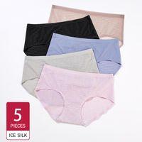Women's Panties 5 7PCS Set Underwear Cotton Panty Sexy Female Underpant Solid Color Intimates Women Seamless Lingerie M-XL