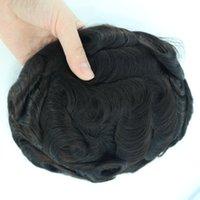 Duro Mono PU Menschliches Haar-Toupee für Männer, feiner Mono-Toupee mit Polyskin mit gaze indischem Remy Hair Toupee