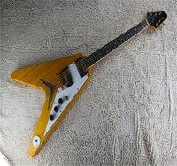 2021 High quality Wood color guitar EMG pick-up flying V type electric guitar