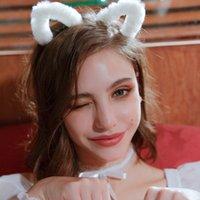 Linda peluche de gato conejo oreja accesorios para el cabello juego de rol dulce